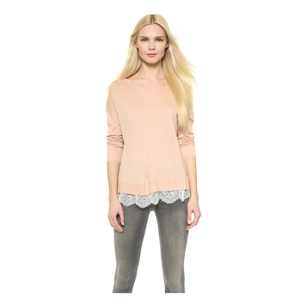 JOIE Hilano sweater - This Joie sweater is a simple piece with a girly twist....