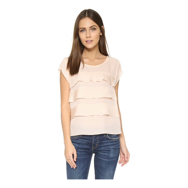 JOIE Irvin blouse - Ruffled tiers bring feminine flair to this silk Joie...
