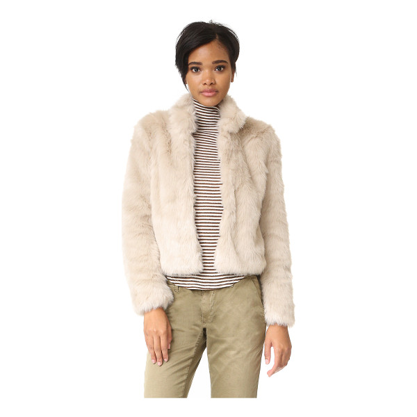 JOIE merwyn jacket - Plush faux fur composes this cropped Joie jacket. Stand up...