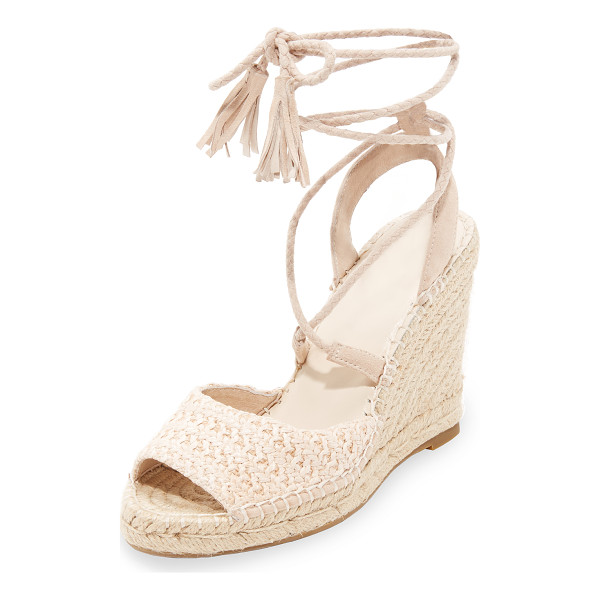 JOIE kacy wrap sandals - Summer-ready Joie sandals styled with a washed raffia vamp....