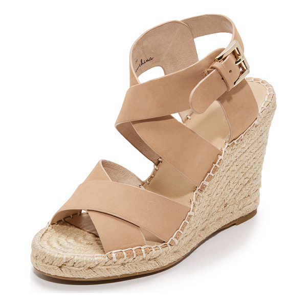 JOIE kaelyn wedge sandals - Smooth nubuck Joie sandals styled with wide, crisscross...