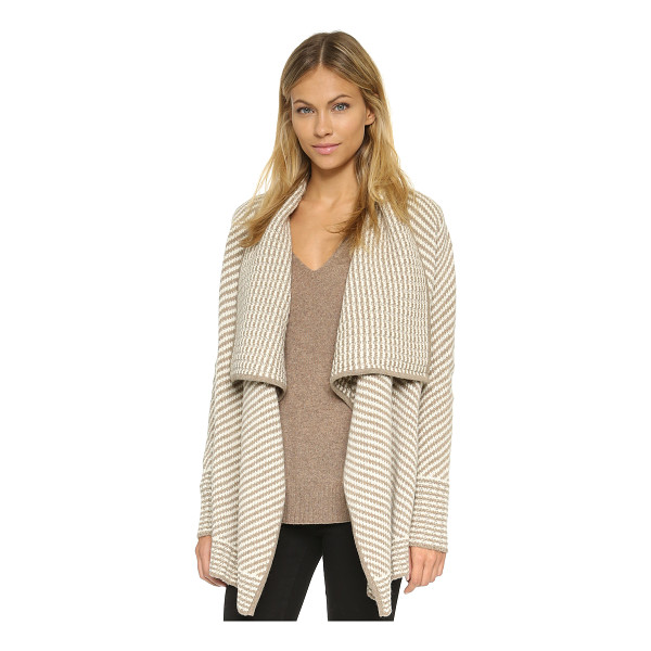JOIE Larunda cardigan - A striped Joie sweater with a draped, open placket. Leather...