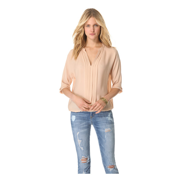 JOIE Marru top - This silk top features a split V neck and a gathered...