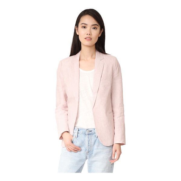 JOIE mehira blazer - Crisp linen suiting lends a summery feel to this tailored...