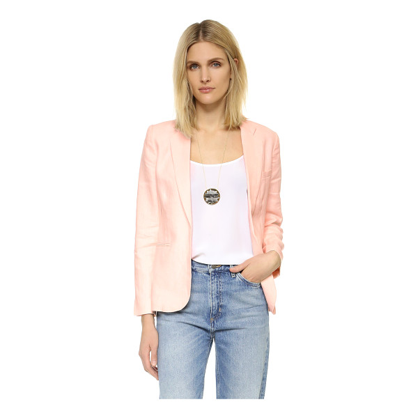 JOIE mehira blazer - An open placket and vented hem accentuate the relaxed feel...