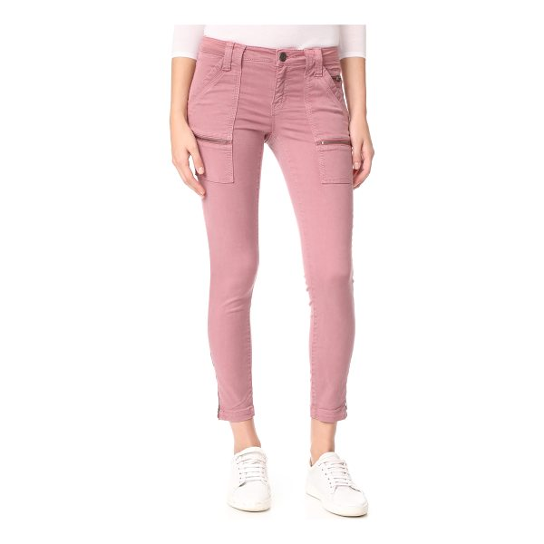 JOIE park skinny pants - Zip front pockets and zip cuffs lend a moto-inspired look...