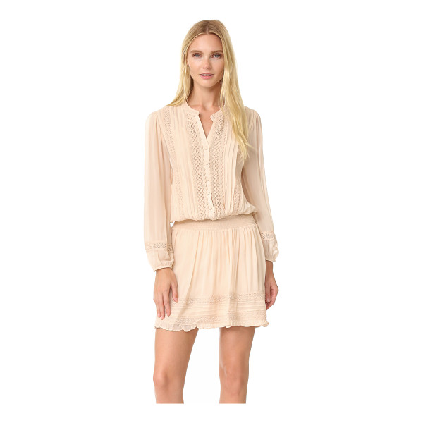 JOIE pima dress - Crocheted lace trim lends weight and texture to this breezy...