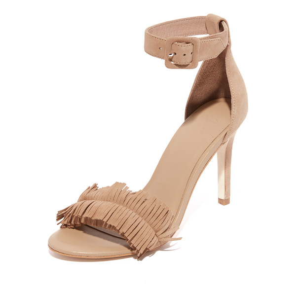 JOIE pippi sandals - Velvety suede Joie sandals styled with a fringed vamp. A