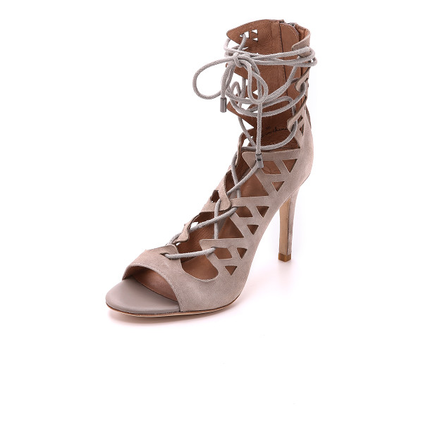 JOIE Quinn lace up sandals - Sharp angles and geometric cutouts bring a bold look to...