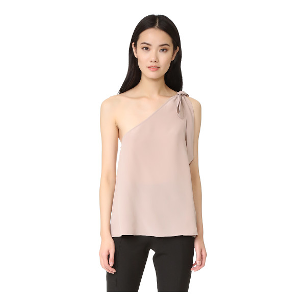 JOIE romana top - A tie closure secures the single shoulder strap on this...
