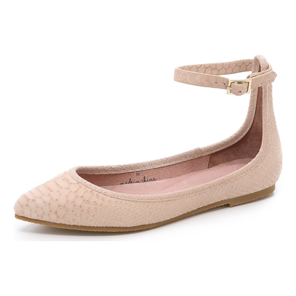 JOIE Temple flats - Snake embossed suede composes these pointed toe Joie flats.