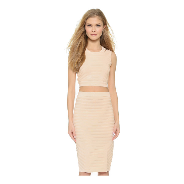 JONATHAN SIMKHAI Angle knit crop top - Raised stitches create striped sections on this Jonathan...