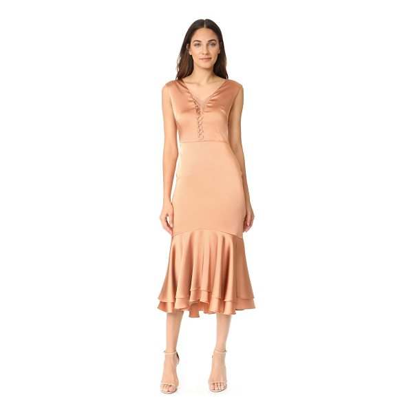 JONATHAN SIMKHAI fluid stretch sateen lace up dress - This elegant Jonathan Simkhai dress is detailed with a...