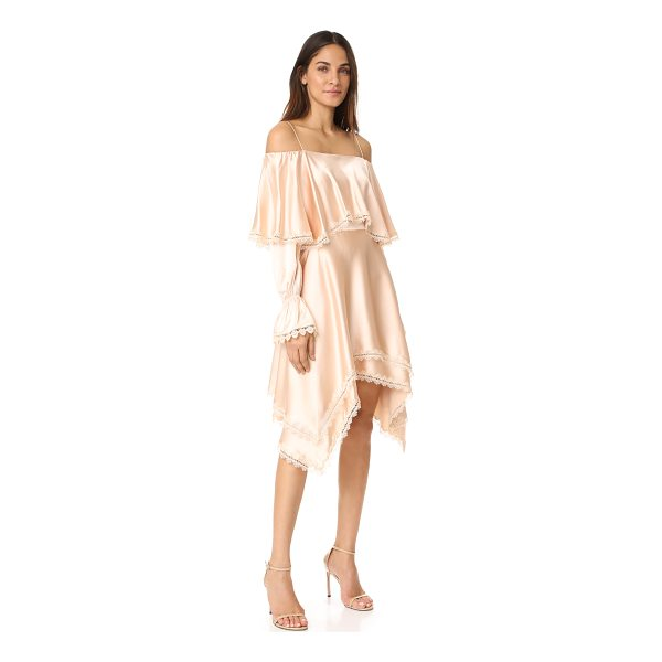 JONATHAN SIMKHAI off shoulder ruffle dress - This luxurious sateen Jonathan Simkhai dress is detailed...
