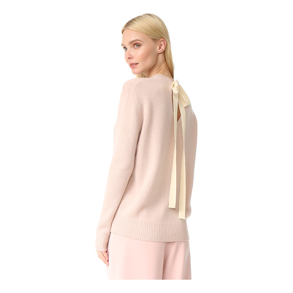 JOSEPH tie back crew neck cashmere sweater - Long ties form a bow in the back of this Joseph cashmere...
