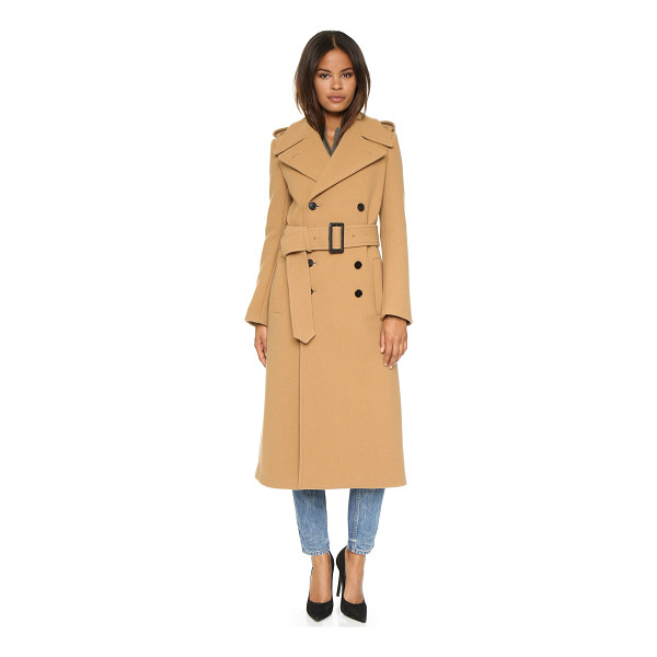 JOSEPH Townie extra long trench coat - A heavyweight Joseph trench coat with a double breasted...