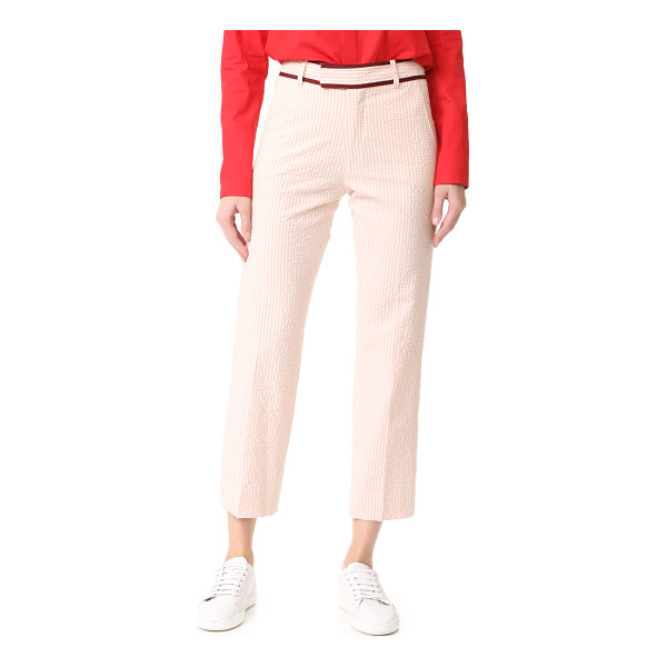 JOUR/NE seersucker trousers - Two-tone stripes accent these textured JOUR/NE pants,...