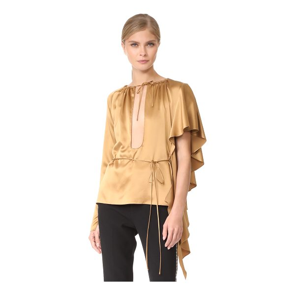 JUAN CARLOS OBANDO asymmetrical ruffle blouse - Fluid ruffles drape from the shoulder of this asymmetrical...