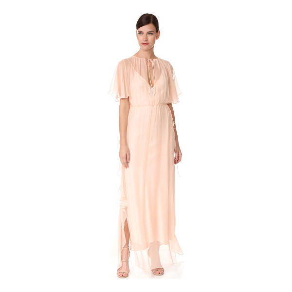 JUAN CARLOS OBANDO ruffle gathered gown - An ethereal Juan Carlos Obando gown with an airy drape....