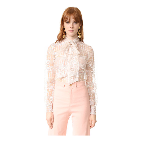JULIANNA BASS mathilda blouse - This filmy Julianna Bass blouse is accented with delicate...