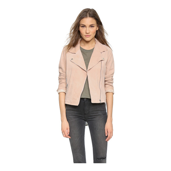 JUST FEMALE Came suede jacket - A timeless Just Female moto jacket in rich suede. Zip...