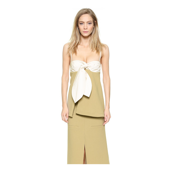J.W.ANDERSON Knot bustier with spaghetti straps - Description NOTE: Sizes listed are UK. Please see Size &...