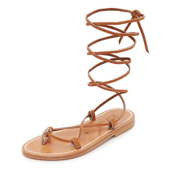K. JACQUES bikini wrap gladiator sandals - Classic K. Jacques sandals in metallic leather. Slim...