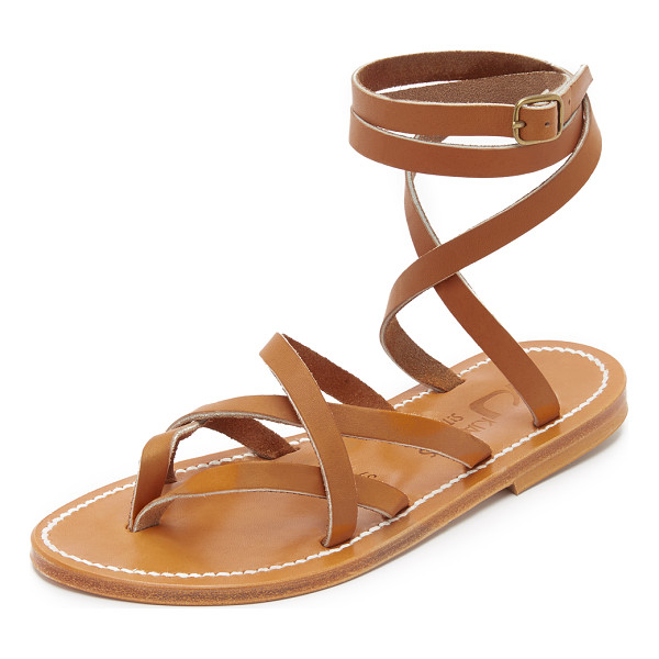 K. JACQUES zenobie wrap sandals - Timeless K. Jacques thong sandals styled in sturdy leather...