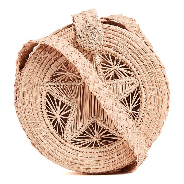 KAANAS akumal woven circle cross body bag - Fabric: Woven straw Magnetic closure at top Dust bag...