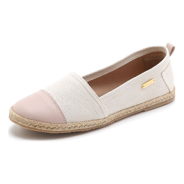 KAANAS Marseille flat espadrilles - A leather toe cap brings contrast to these handmade KAANAS...