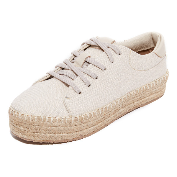KAANAS nogales espadrille sneakers - Canvas KAANAS espadrille sneakers with leather trim and a