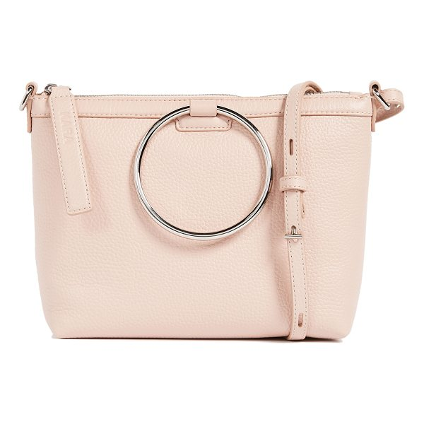 KARA ring cross body bag - A pebbled leather KARA cross-body bag trimmed with