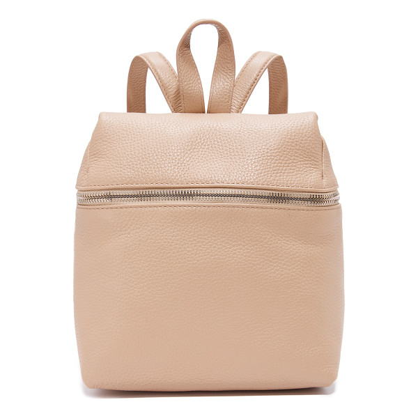 KARA small backpack - A scaled-down KARA backpack in rich leather. Slim back