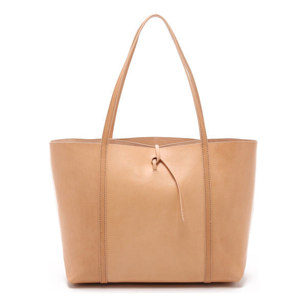KARA tie tote - A large KARA tote with a minimalist profile. A slim strap