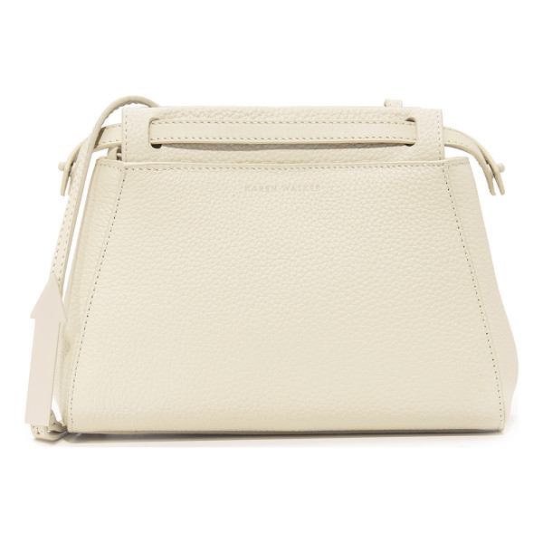 KAREN WALKER mae cross body bag - A structured Karen Walker bag in luxe, pebbled leather....