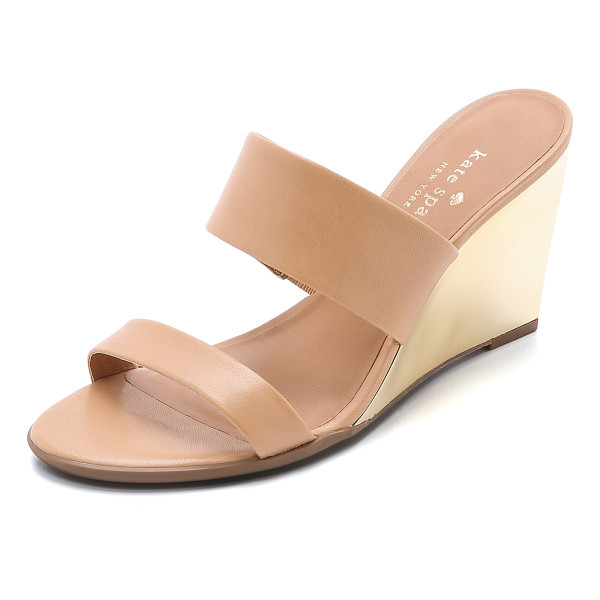 KATE SPADE NEW YORK Abilene wedge sandals - A mirrored wedge heel brings bold shine to these Kate Spade