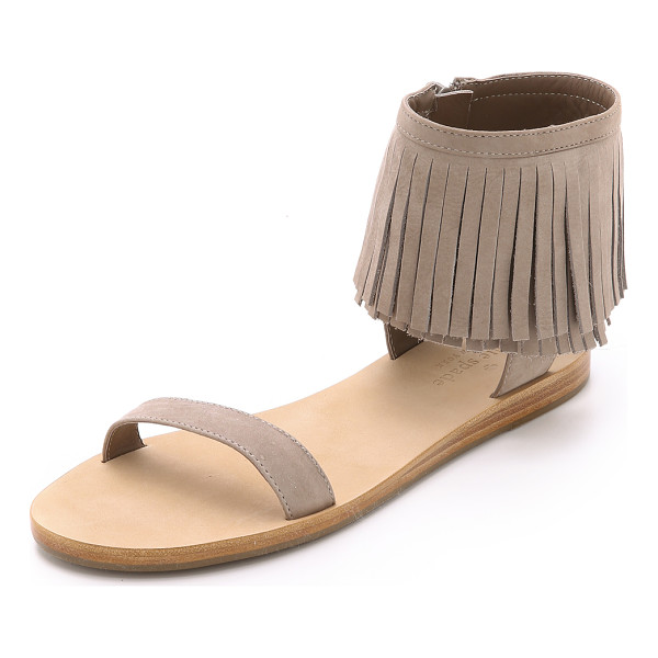KATE SPADE NEW YORK Alex fringe sandals - A fringed cuff brings a playful look to these nubuck Kate...