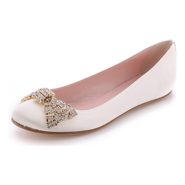 KATE SPADE NEW YORK Ballie bow flats - A crystal bow details the vamp of romantic Kate Spade New...