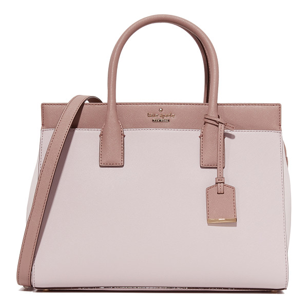 KATE SPADE NEW YORK Kate Spade New York Candace Satchel - A Kate Spade New York tote in saffiano leather. The inset...