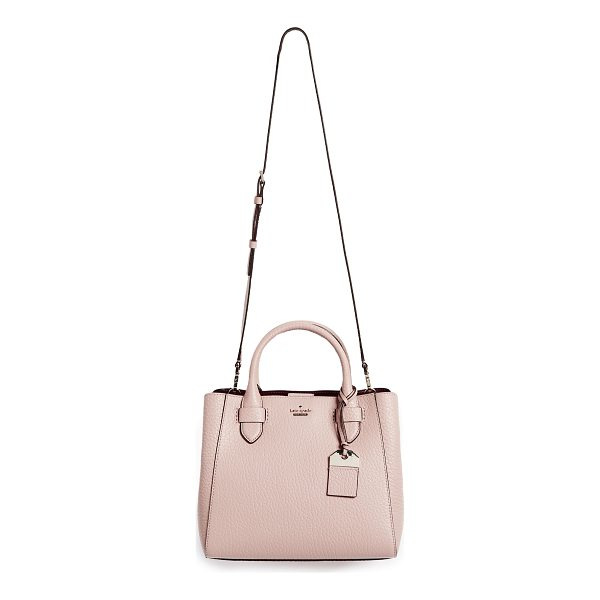 KATE SPADE NEW YORK carter street devlin satchel - A structured Kate Spade New York bag in rich, pebbled...