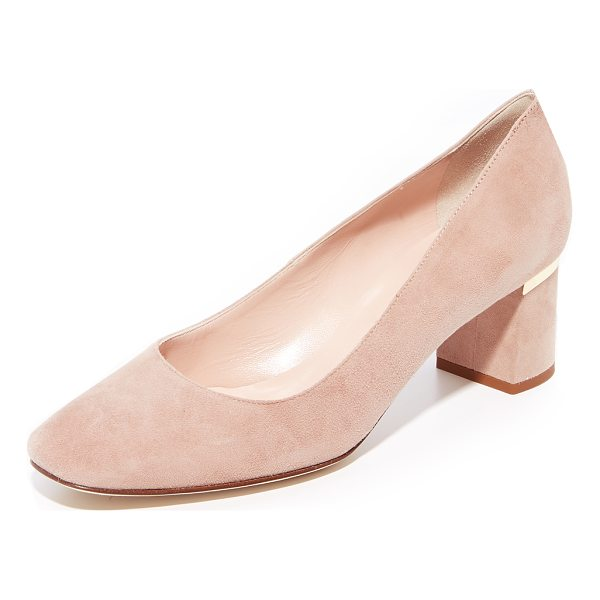 KATE SPADE NEW YORK dolores too ballet pumps - Pretty pastel suede and a rounded toe adds a ballet flat...