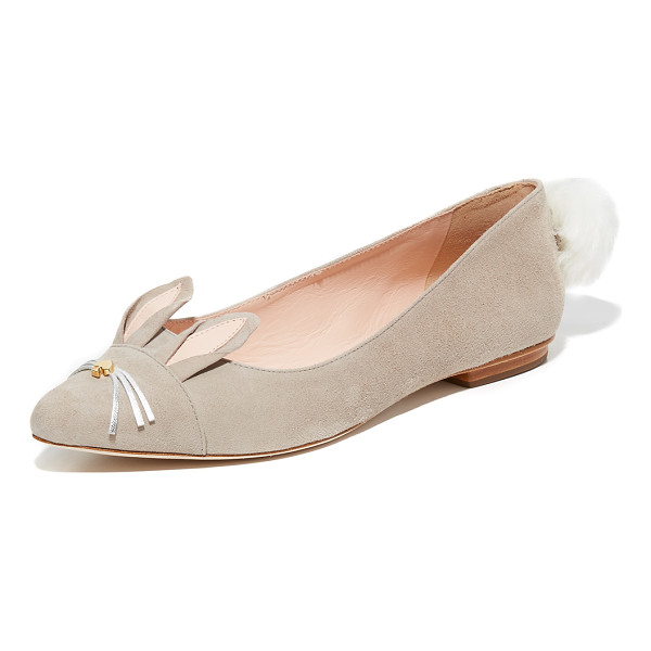 KATE SPADE NEW YORK edina flats - A faux fur poof and rabbit ears add a playful touch to...