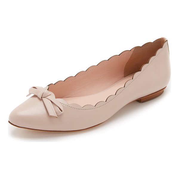 KATE SPADE NEW YORK Eleni flats - Smooth leather Kate Spade New York flats styled with a...