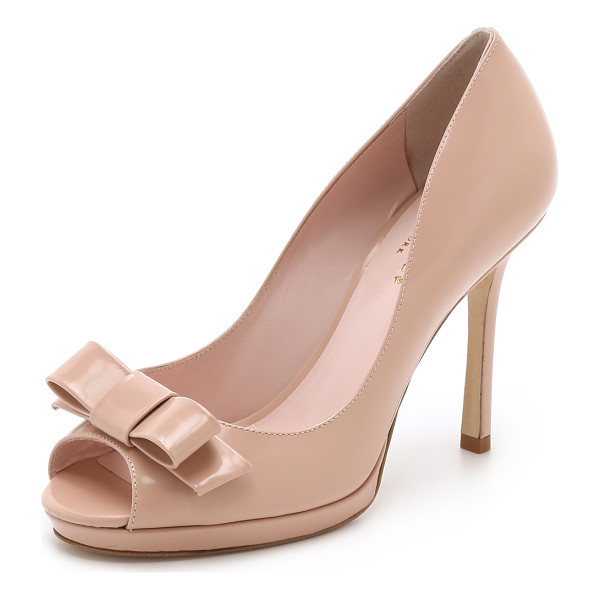 KATE SPADE NEW YORK Felisha bow peep toe pumps - Feminine Kate Spade New York peep toe pumps in polished