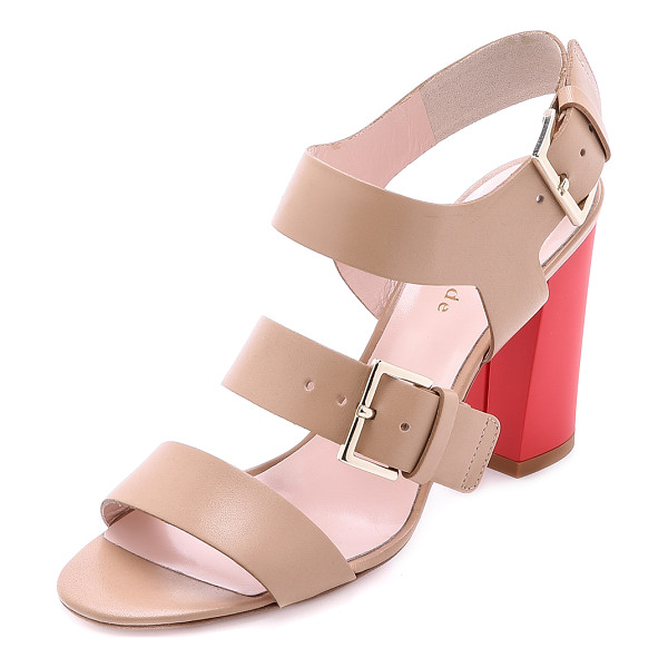 KATE SPADE NEW YORK Ibarra block heel sandals - Kate Spade New York sandals with buckled straps at the...