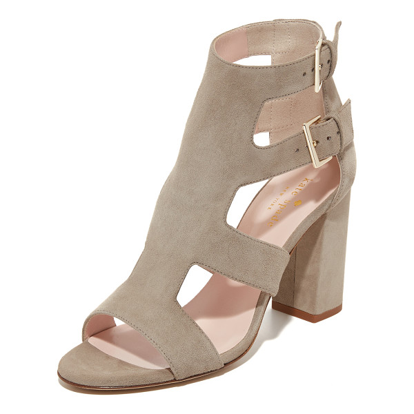 KATE SPADE NEW YORK ilemi sandals - Kate Spade New York cage sandals composed of smooth suede.