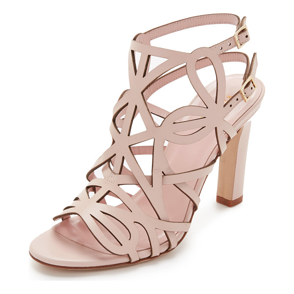 KATE SPADE NEW YORK Illana sandals - Delicate straps weave and crisscross over these smooth...