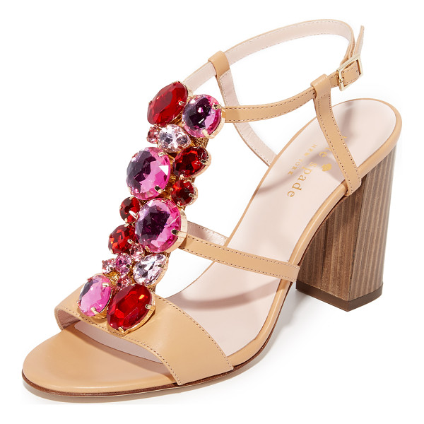 KATE SPADE NEW YORK Isabell sandal - Kate Spade New York sandals with a chunky heel, embellished...