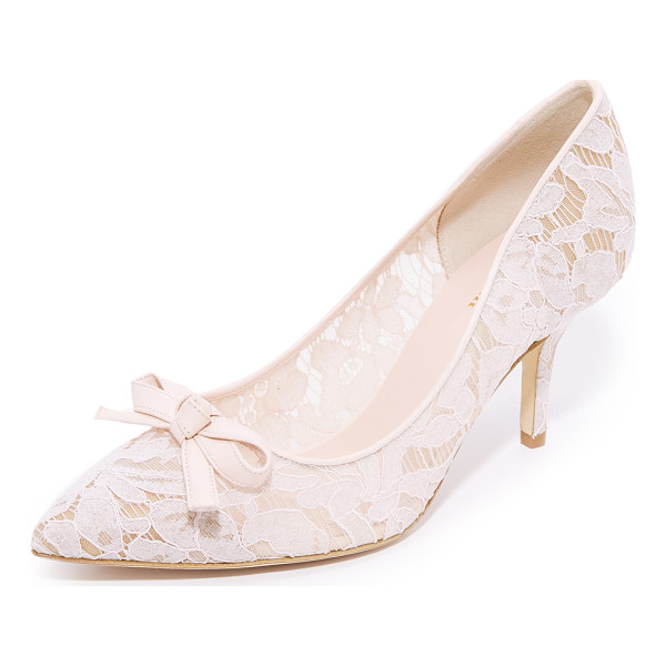 KATE SPADE NEW YORK jace lace pumps - Delicate floral lace covers these mesh Kate Spade New York