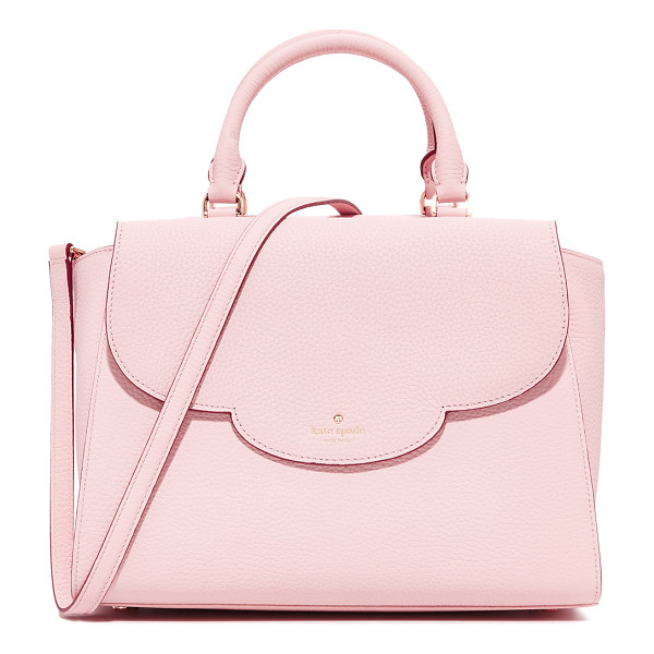 KATE SPADE NEW YORK makayla satchel - A pebbled leather Kate Spade New York satchel with a